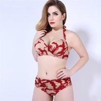 2019 nuove donne sexy separano i costumi da bagno in stile europeo e americano di grandi dimensioni bikini alla moda con costume da bagno floreale estate estate