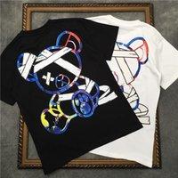 Marcelo Barrett Kısa Kollu Erkekler T Gömlek Karikatür Ayı Kadın Gömlek Bağladı | Streetwear 2191001657