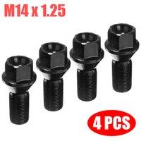 4pcs M14x1.25 Black Steel Wheel Lug Bolt Nut For BMW X3 X5 E70 E71 F20 F25 36136781151 Accessories Parts