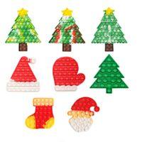 クリスマスラット排除装置クリスマスツリーセット子供のストレスリリーフ指先バブル精神算術パズルチェス玩具パーティーの恩恵