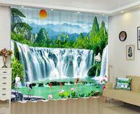 Cortina de impresión digital de Babson Waterfall 3D DIY paisaje PO avanzado Drapes personalizados