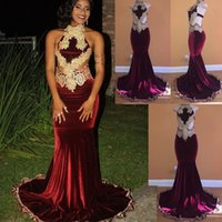 Backless Long Prom Dress Mermaid Halter Neck Cutaway Sides Formal Holidays Wear Graduation Evening Party Gown Custom Made Plus Size