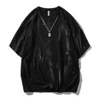 Polo-Sammlung Mode kurze lose Spritzen Top Casual Cats Oansatz Marke Kleidung Homme T-Shirt Männer