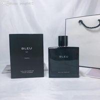 2021 Perfume Spray Fragancias orientales frescas Hombres duraderos Fress Fresh Bleu Fragancia Negro Colonia Charm Deportes Ungüento 100ml Eau de
