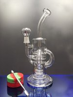 Super Vortex Glass Bong Dab Rig Hookahs Tornado Cyclone Recycler Rigs Water Pipe 14.4mm Joint Bongs