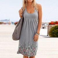 Women Summer Sleeveless Evening Party Beach Dress Short Dress 2020 New Dress Fashion Woman Clothes Vestido Long sleeve #Y10