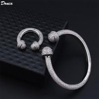 Dona Jewelry Party European and American Full Diamond a forma di U a forma di U a forma di U Zirconia Bracciale Designer Bracciale