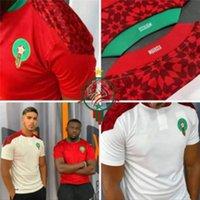 2021 المغرب Soccer Jerseys Home Away 20 21 Mailleot De Foot Ziyech بوفال فجر منير منير مناس