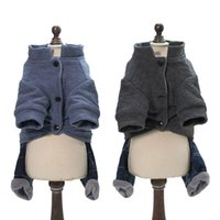 Pet Dogs Coat Four Legs Cotton Jacket Thick Warm Comfortable Autumn Winter Sweater Dog Baby Clothing For Apparel