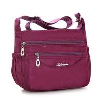 Herald Fashion Waterproof Nylon Women Messenger Bags Carteira Vintage Hobos Ladies Handbag Female Crossbody Bags Shoulder Bags Y0728