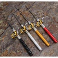 Spinning Sport im Freien Tropfen Lieferung 2021 Aluminiumlegierung Stift Rod Mini Pocket Fish Pole Combos Lightweight Teleskop Angelruten mit RE