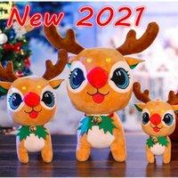 Bells de dessin animé mignon peluche doux elk jouets de noël poupée poupées enfants hommes et femmes cadeaux cadeaux famille fête vacances décoration