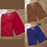 Verão Mens Moda Letras Shorts Impressão Meninos Hiphip Streetwear Casual Active Running Trackpants Respirável 3 Cores Cores Colocadas Tamanho Asiático