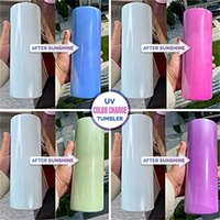 wholesale Sublimation Blanks Straight Skinny Tumbler Stainless steel blank white skinnys cup UV discoloration Cylinder water bottle coffee