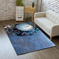 Carpets Fashion 3D Pocket Watch Home Decor Bedroom Kids Play Mat Soft Flannel Memory Foam Big Area Rugs Carpet For Living Room