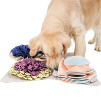 Kennels & Pens Pet Dog Snuffle Mat Sniffing Training Blanket Detachable Fleece Relieve Stress Nosework Puzzle Toy Nose Pad