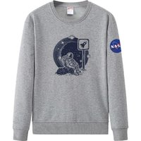 2021 Autumn and winter NASA Long Sleeve Hooded velvet Sweatshirts Crew neck Pullover Men Women Hoodie Plus Size S-4XL 266