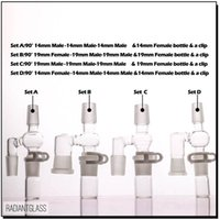 Hookahs 90 45 degrees reclaimer set for glass bong oil rig have 14 & 18 male and Female Adapter Complete new design