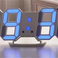 Modern Tasarım 3D LED Duvar Saati Modern Dijital Çalar Saatler Ekran Ev Oturma Odası Ofis Masa Masası Gece Duvar Saati Ekran 601 R2