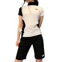 Hanyuan pxg Golf women's Short Sve T-Shirt Top outdoor sports quick drying elastic short sve clothing