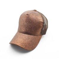 캐주얼 말 시작 야구 모자 effen 색상 조정 가능한 pailletten 여자 여름 빛나는 모자 TG0213에 대 한 힙합 모자