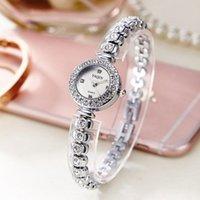 Frauen Armband Uhren Kristall Kleid Damen Mode Seitige Stahl Runder Zifferblatt Einzigartige Designer Quarz-uhr Montres Femme Armbanduhren