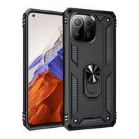 Darbeye Dayanıklı Telefon Kılıfları Için Xiaomi Mi 11 11x Pro 10T 11Pro 10Pro Manyetik Yüzük Kılıfı Redmi Not 10 10 S 5G 9PRO 9S 9 9 T 8PRO 8 8T