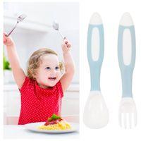 Forks 1 Set Baby Training Fork And Spoon Eating Cutlery Kit Feeding Utensils