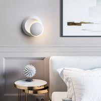 LED wall lamp 360 degree rotation adjustable bedside modern creative personality aluminum AC86-265V
