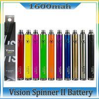 Vision Spinner 2 II 1600mAh الأنا ج تطور Vision2 البطارية e cigs السجائر الإلكترونية البخاخة clearomizer الملونة