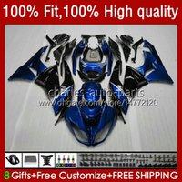 Kawasaki Ninja 600CC ZX 6R 6 R 636 600 CC 2009-2012 13NO.14 ZX600 ZX636 ZX6R 09 10 11 12 ZX-636 ZX600C ZX600C ZX-6R 2009 2011 2012 OEM Bodys 금속 블루