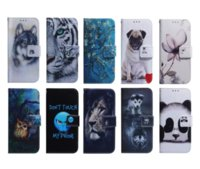 Flip Wallet Cases For Iphone 13 Mini 2021 12 11 Pro MAX Phone13 Samsung S20 Ultra A51 A71 A20S A10S Aminal Flower Leather Lion Panda Dog Wolf Tiger Slot ID Cover Pouch