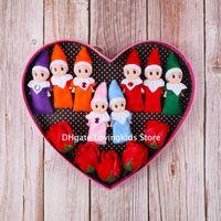 10 pcs Natal bebê elf bonecas bebê elfos brinquedos mini elf xmas decoração boneca crianças brinquedos presentes pequenos bonecos