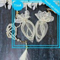 20-pcs ouro branco tasbih dia espelho pérola oração tesbih casamento islâmico voto henna presentes de juramento ames mubarek favores muçulmanos