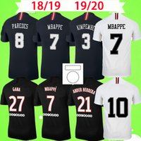 PSG forması Retro 2018 2019 2020 maillots de foot MBAPPE Paris futbol formaları ICARDI 18 19 20 Klasik Vintage futbol forması CAVANI Yetişkin erkek dördüncü üçüncü siyah S-2XL