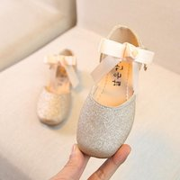 Sneakers Chidlren Baby Girls PU Leather Shoes Toddler Infant Summer Soft Sole Non-Slip Princess Casual With Bowknot 1-5Y