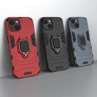 Car Holder Magnet Suction Hybrid Cases For Iphone 13 Pro Max 12 Samsung F52 M12 A22 4G A03S M32 One Plus Nord N200 5G CE N10 N100 Shockproof Hard Finger Ring Defender Cover