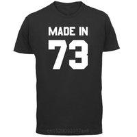 Feito em '73 mens camiseta 13 cores 43rd presente presente presente 1973 mangas curtas o-pescoço camiseta tops tshirt