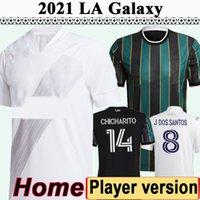 2021 نسخة لاعب J. Dos Santos Chicharito رجل لكرة القدم الفانيلة La Galaxy Katai Pavon LLETGET HERNANDEZ HOME
