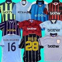 93 94 Manchester Retro Classic Soccer Jerseys 1998 99 2011 12 Ciudad 94 95 11 12 Wembley Clough Kinkladze Tevez Kun Agüero Dzeko Kompano Dzeko Kompano Vintage Homme Shirts