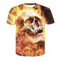 Ragazzi ragazze adolescenti manica corta hip hop 3d stampa grafica t-shirt girocollo camicia estate