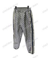 21ss mens designer calças jacquard tecido duplo letra homens calça casual letras calças preta cinza azul