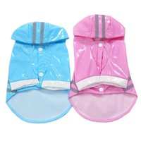 Dog Apparel Summer Outdoor Puppy Pet Rain Coat Hoody Waterproof Jackets PU Raincoat For Dogs Cats Clothes Wholesale P63