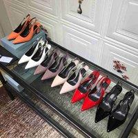 2021 Marque luxurys designers femmes chaussures haute talon robe chaussures printemps et chute rouge cuir rouge orteils pointus pompes inférieures en plein air taille 34-42 avec boîte