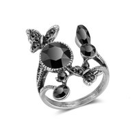 ring butterfly dark petal Thai sier woman