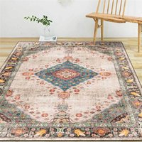 Geometric Vintage Rug Fashion National Wind Flower Pink Carpet Living Room Bedroom Bed Blanket Bathroom Kitchen Floor Mat Carpets