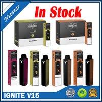 Ignite V15 descartável E Cigarros 1500 Puffs Vape Pen 5.1ML PODs Pre-Cheios Cartuchos Vaporizadores 850mAh Bateria Barca Vapor Mais XXL Flow Kang Bang Delta 8
