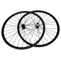 자전거 바퀴 탄소 27.5er 비대칭 33x30mm 튜브리스 디스크 브레이크 MTB 스트레이트 풀 110x15 148x12 CN474