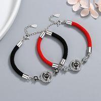 Link, Chain Ekopdee Fashion Rope Zircon Bracelet For Women Romantic Couple Cubic Zirconia Bracelets Wedding Anniversary Jewelry