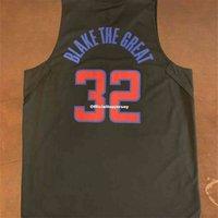 저렴한 희귀 한 광고 톱 락 블레이크 # 32 그레이트 그리핀 블랙 조끼 저지 남자 XS-5XL.6XL 셔츠 스티치 농구 유니폼 레트로 NCAA
